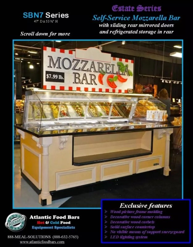 Atlantic Food Bars - Estate Series Self-Service Mozzarella Bar - SB9647N7-DCL-RSD-SC-VH 1