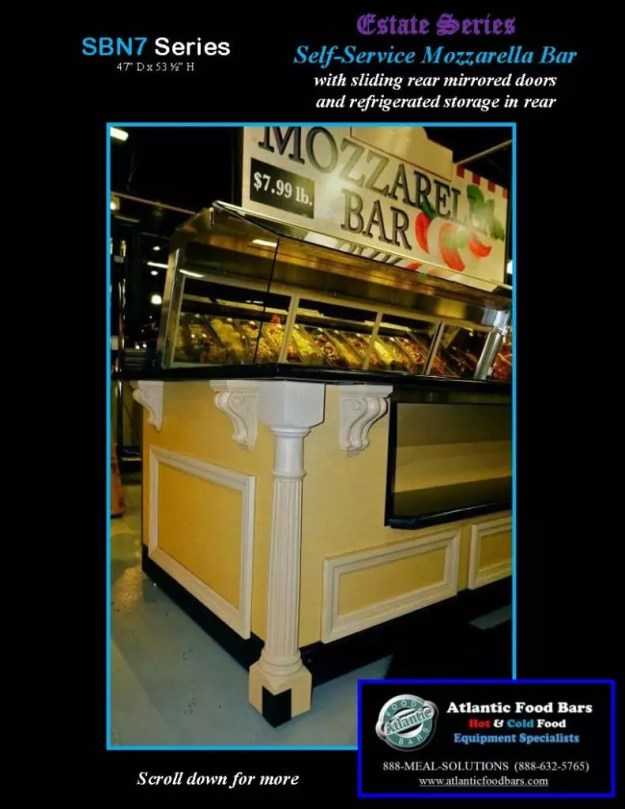 Atlantic Food Bars - Estate Series Self-Service Mozzarella Bar - SB9647N7-DCL-RSD-SC-VH 2