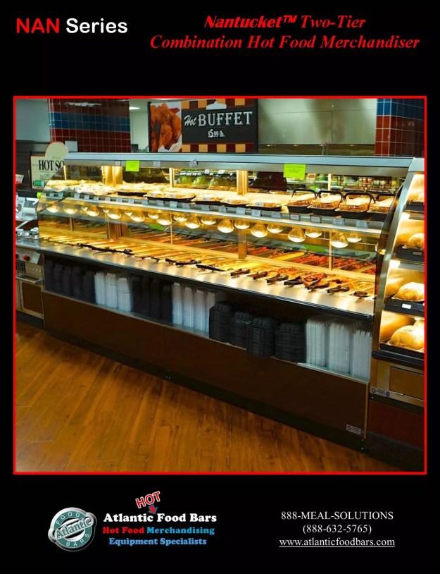 Atlantic Food Bars - Nantucket - Two-Tier Combination Hot Food Merchandiser - NAN14436