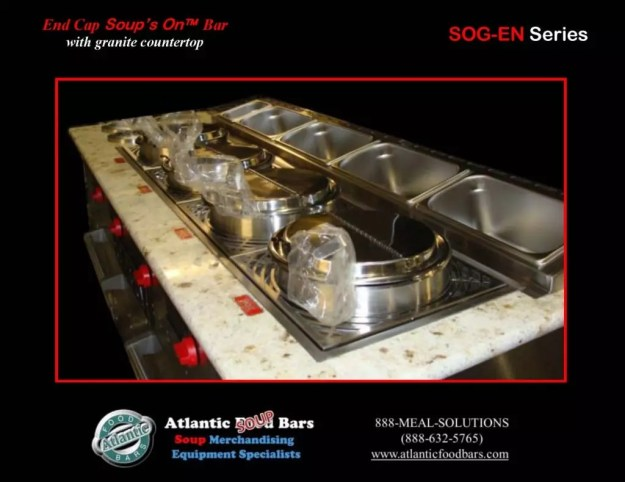 Atlantic Food Bars - 14' Island Wide Nantucket with Granite Countertop and End Cap Soup's On - INAN15776-SOGEN 3