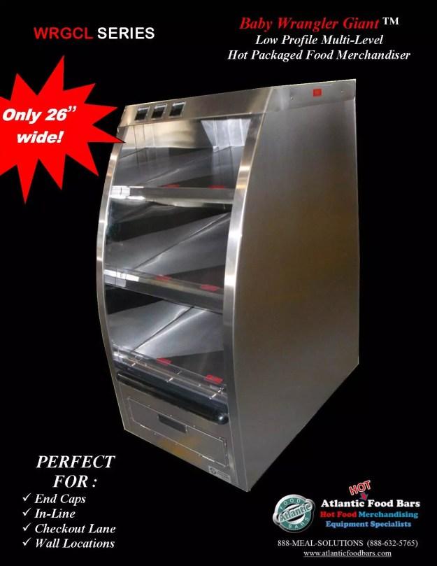 Atlantic Food Bars - 26 inch wide Hot Baby Wrangler Giant Rotisserie Chicken Merchandiser - WRGCL2637-UO