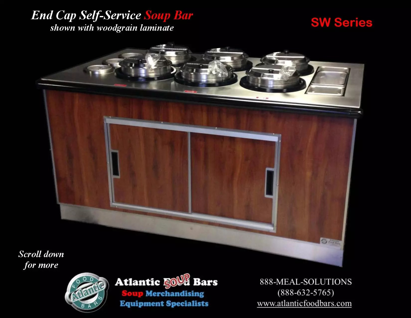 Atlantic food bars soup bar with induction warming wells for Food bar 2015