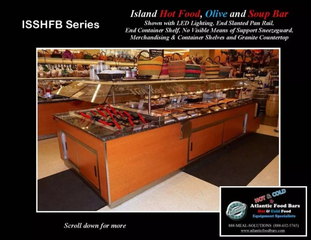 Atlantic Food Bars - Island Hot Food, Soup and Olive Bar - ISSHFB-ECS-GC-LB-LED-RSD2-SPR-VH 2