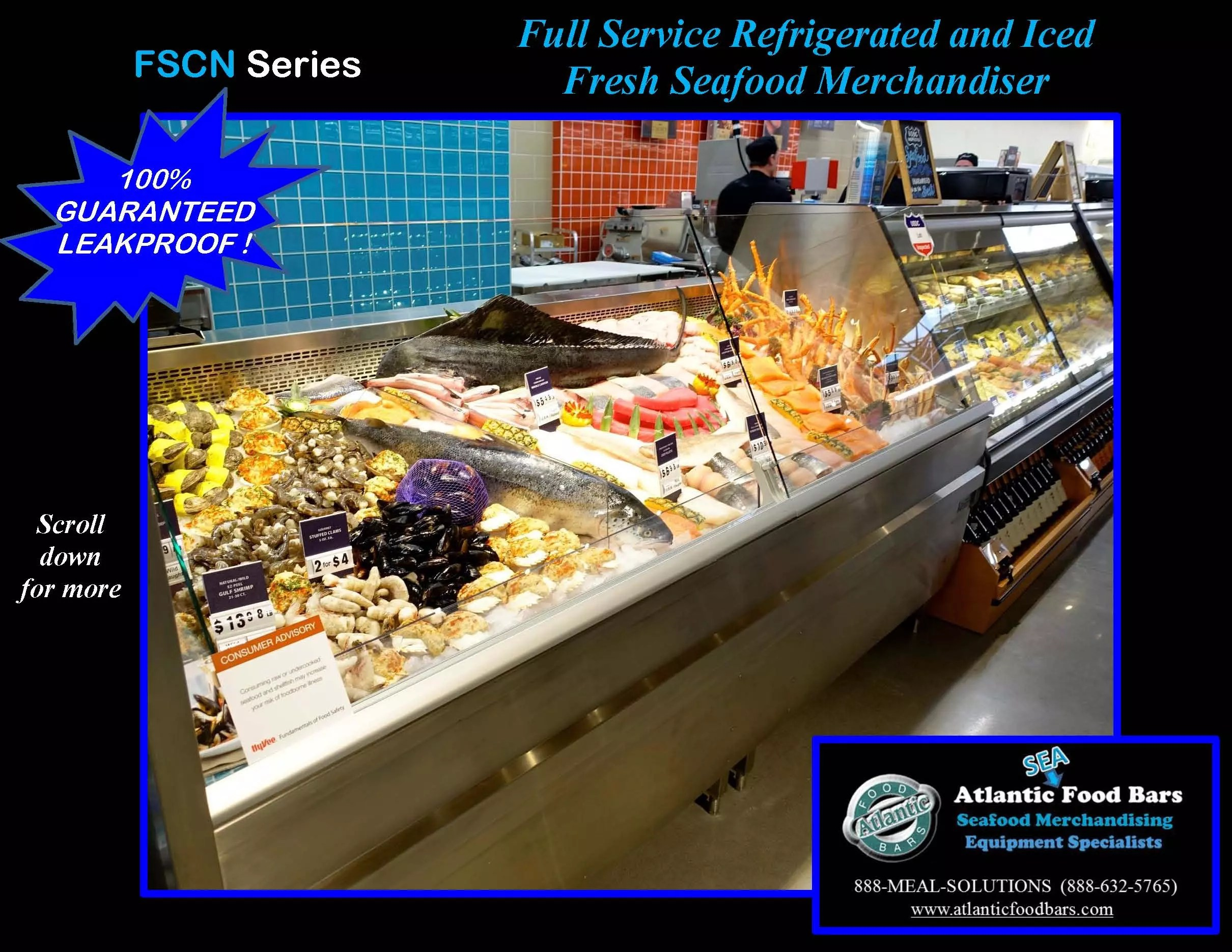 atlantic food bars 8 39 iced and refrigerated seafood case
