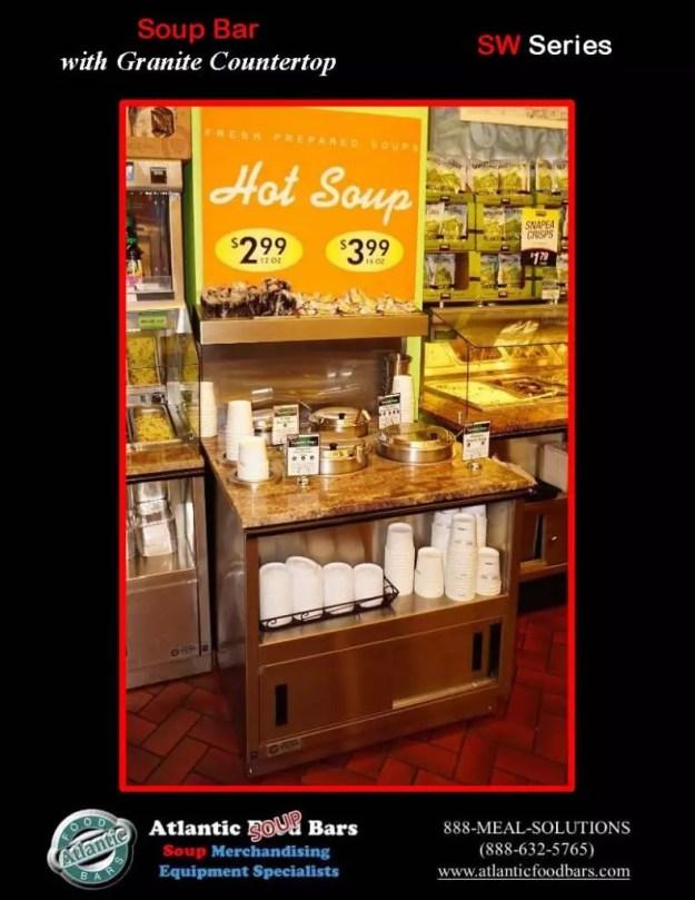 Atlantic Food Bars - 3' Soup Bar with Granite Countertop - SW