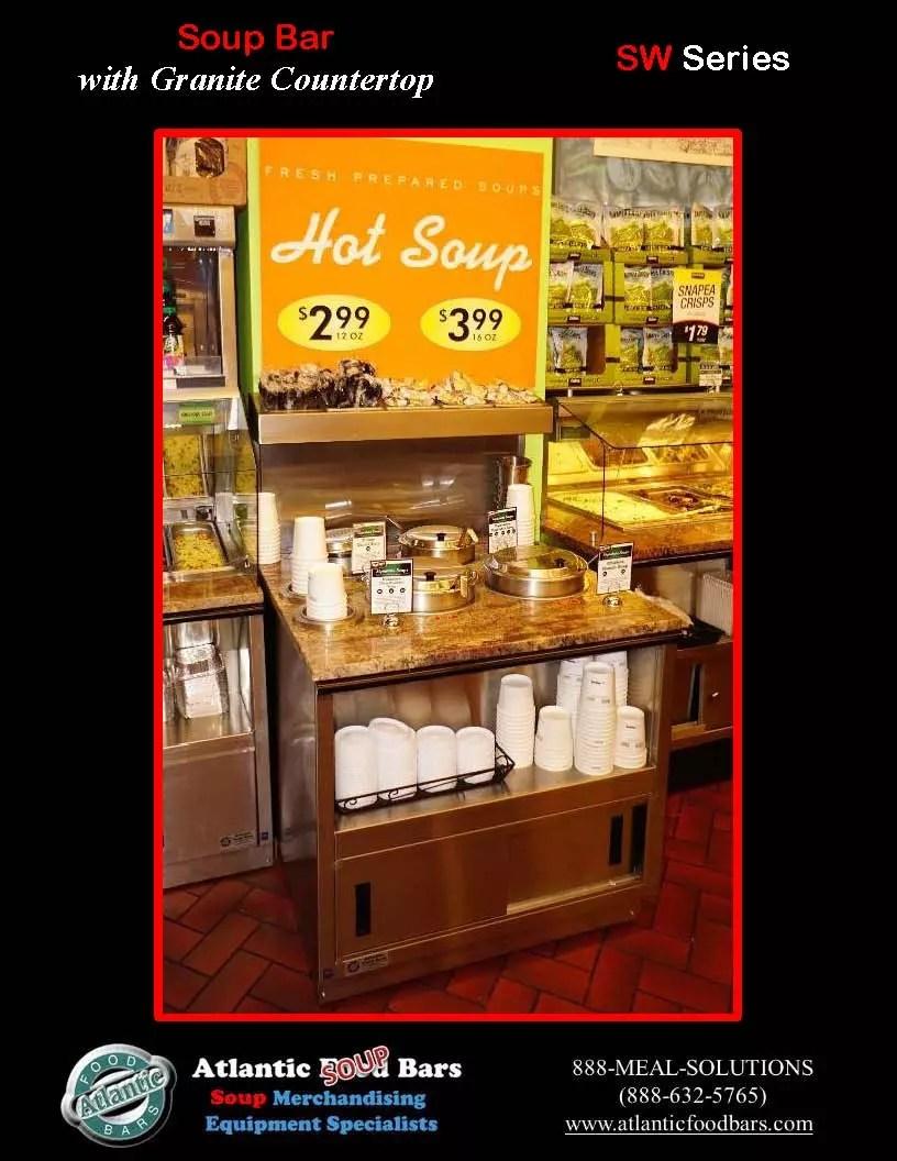 Atlantic food bars 3 39 soup bar with granite countertop for Food bar 2015
