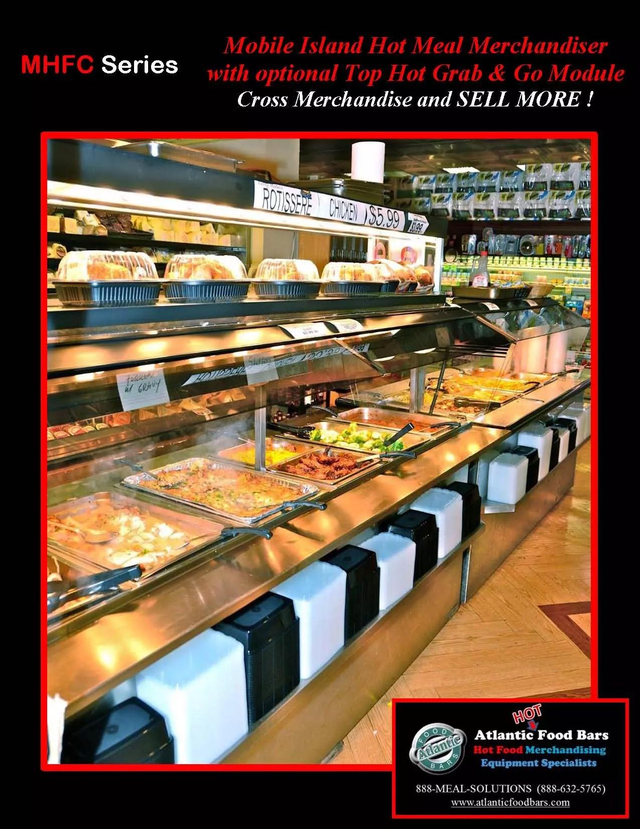 Atlantic Food Bars Mobile Hot Food Bar W Packaged