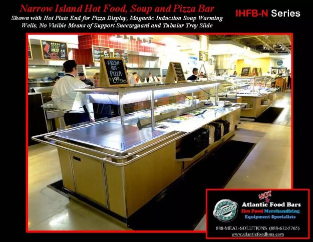 Atlantic Food Bars - Narrow Island Hot Food, Soup and Pizza Bar with Tubular Tray Slide - IHFBN-SB-HP-TS-VH_Page_3