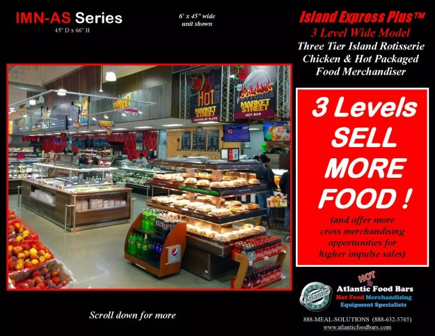 Atlantic Food Bars - Three Level Island Express PLUS Wide Hot Packaged Food Merchandiser - IMN7245-AS_Page_2
