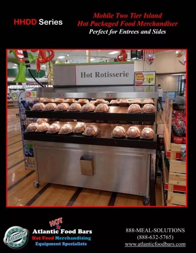 Atlantic Food Bars - Mobile 2-tier Island Hot Packaged Food Merchandiser - HHDD5136_Page_1