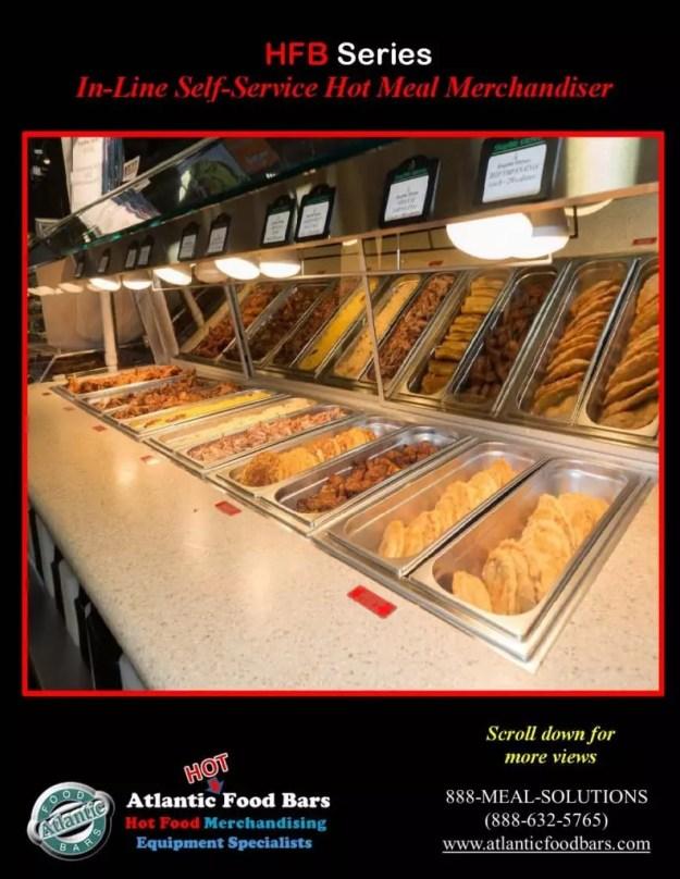 Atlantic Food Bars - 10' In-Line Hot Food Buffet with Woodgrain Laminate - HFB12043_Page_3