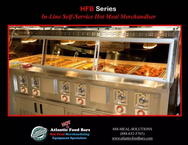 Atlantic Food Bars - 10' In-Line Hot Food Buffet with Woodgrain Laminate - HFB12043_Page_4