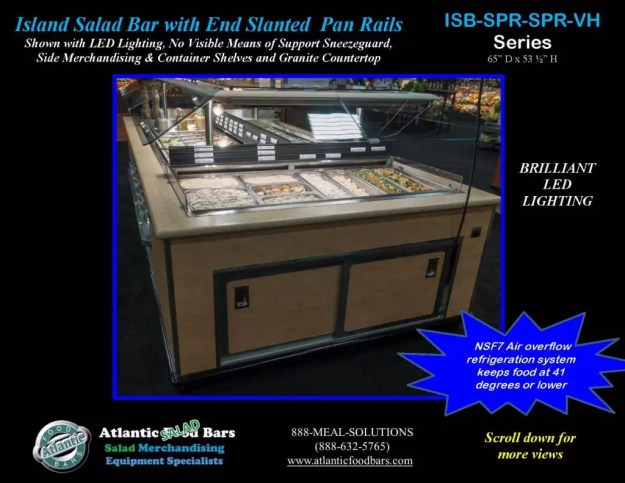 Atlantic Food Bars - Island Salad Bar featuring Flat End Pan Rails with Lettuce Divider Kit - ISB14863-SPR-SPR-SSC-VH_Page_2