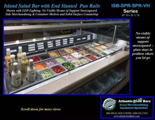 Atlantic Food Bars - Island Salad Bar featuring Flat End Pan Rails with Lettuce Divider Kit - ISB14863-SPR-SPR-SSC-VH_Page_3
