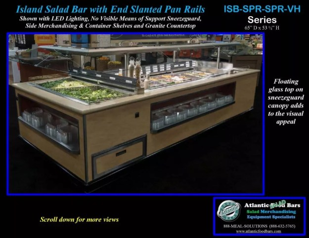 Atlantic Food Bars - Island Salad Bar featuring Flat End Pan Rails with Lettuce Divider Kit - ISB14863-SPR-SPR-SSC-VH_Page_4