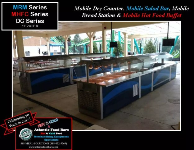 Atlantic Food Bars -Mobile Dry Counter, Mobile Salad Bar, Mobile Bread Station & Mobile Hot Food Buffet -MRM,MHFC,DC