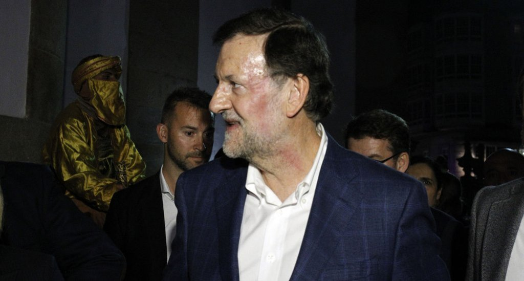 El rostro de Mariano Rajoy presentaba la marca del puñetazo.