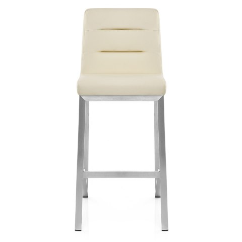 cream office chair faux leather target patio covers stella brushed steel stool - atlantic shopping