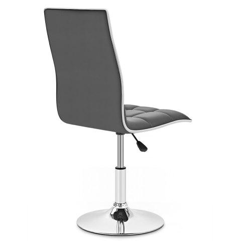 macy stool chair grey leather slipper atlantic shopping