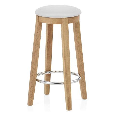 kitchen stool microwave ikon oak white atlantic shopping