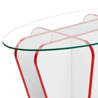 XO Coffee Table Red & White - Atlantic Shopping