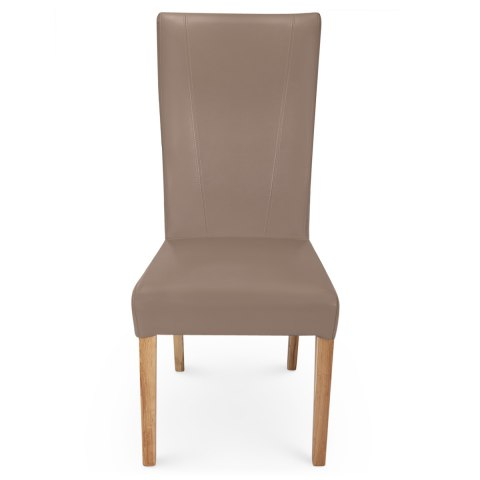 Marseille Madras Leather Dining Chair Taupe  Atlantic