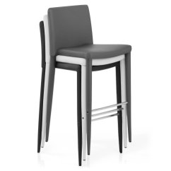 High Back Chair Covers For Sale Living Room Accent Healey Kitchen Stool Dark Grey - Atlantic Shopping