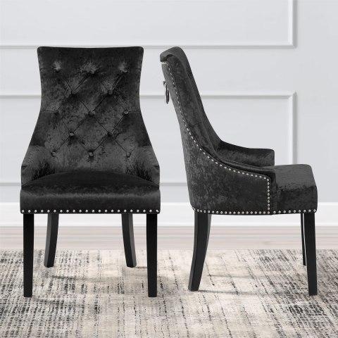 velvet dining room chairs uk mid century modern directors chair ascot black - atlantic shopping
