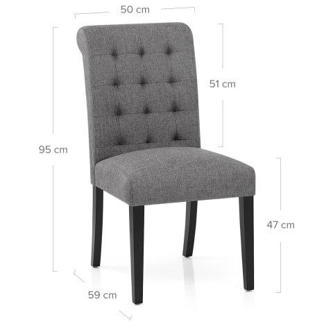 Thornton Dining Chair Charcoal Fabric  Atlantic Shopping