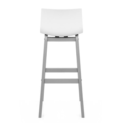 Coast Bar Stool White & Grey