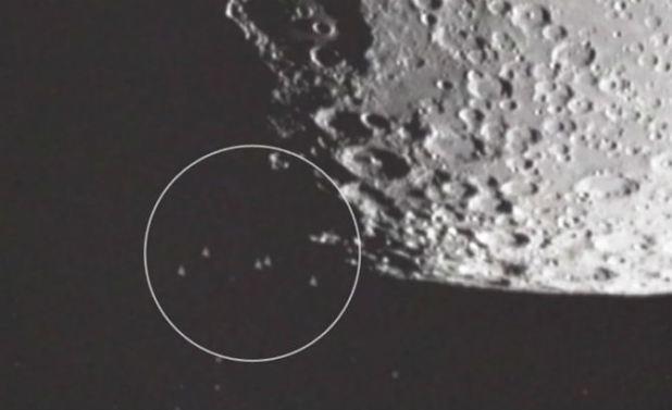 UFO at moon