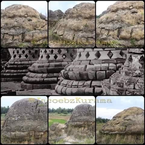 Susunan batuan situs bukit jamur di bungah Gresik …