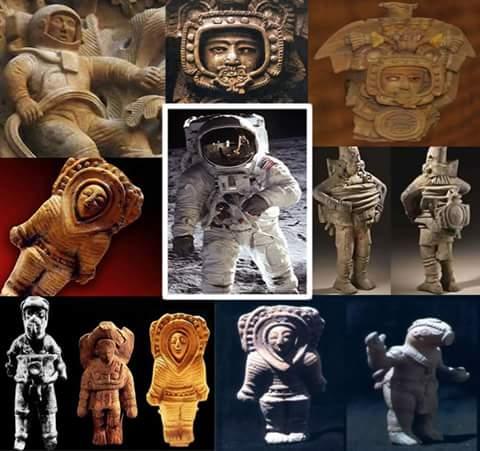 Beberapa artefak arca peninggalan masa lampau …