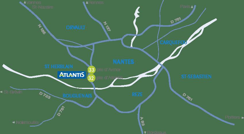 plan d acces atlantis