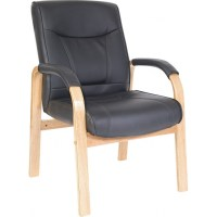 Kingston Light Wood Visitor Chair