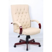 Chesterfield Traditional Leather Office Chair