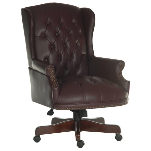 traditional leather office chair Commodore Traditional Leather Office Chair