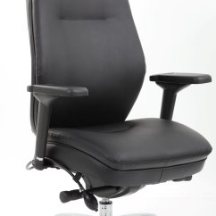 Posture Executive Leather Chair Antique Wooden High For Sale Ely