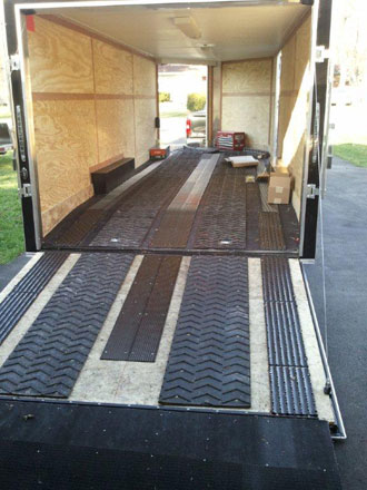 Trailer mats  custom cut