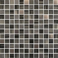 Quebec Slate and Glass Mosaic Tile - 23mm x 23mm