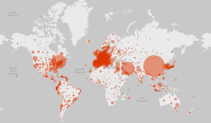 Koronavirüs'te son durum ne? Virüsün yayılımını gösteren 4 canlı harita | Atlas | Gündem
