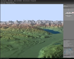 3D Map type: Shaded panorama with altitude classes