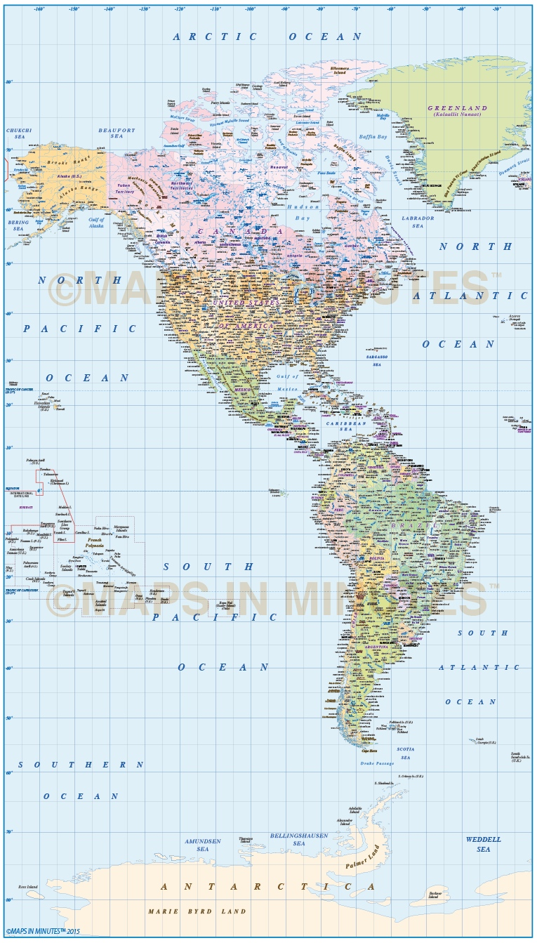 north americas map