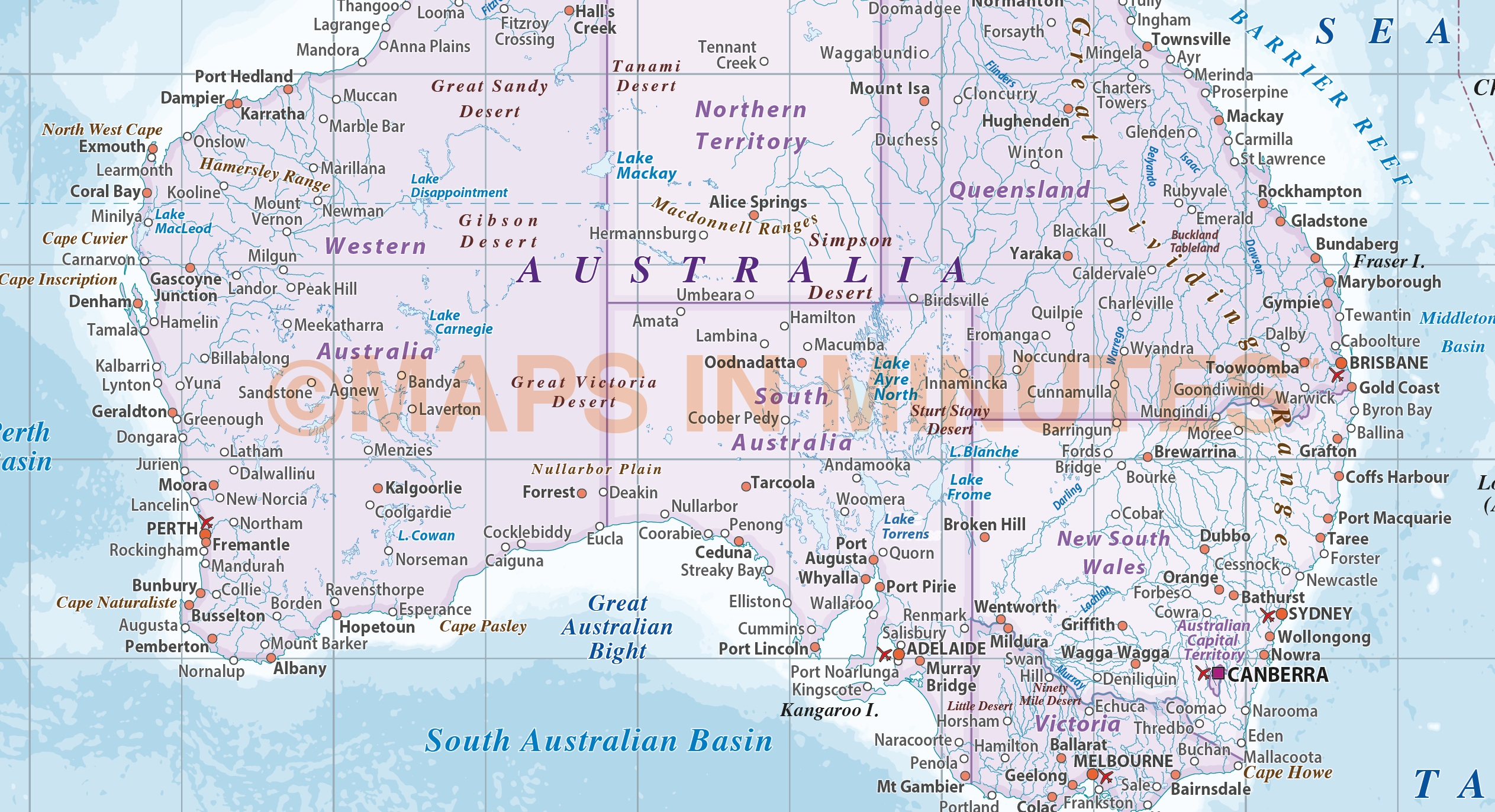 map of australia high resolution