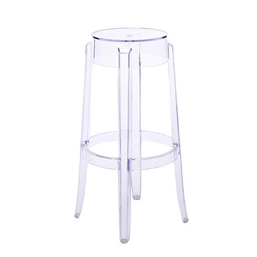 ghost bar chair kids adirondack chairs stool clear and seating rentals south florida