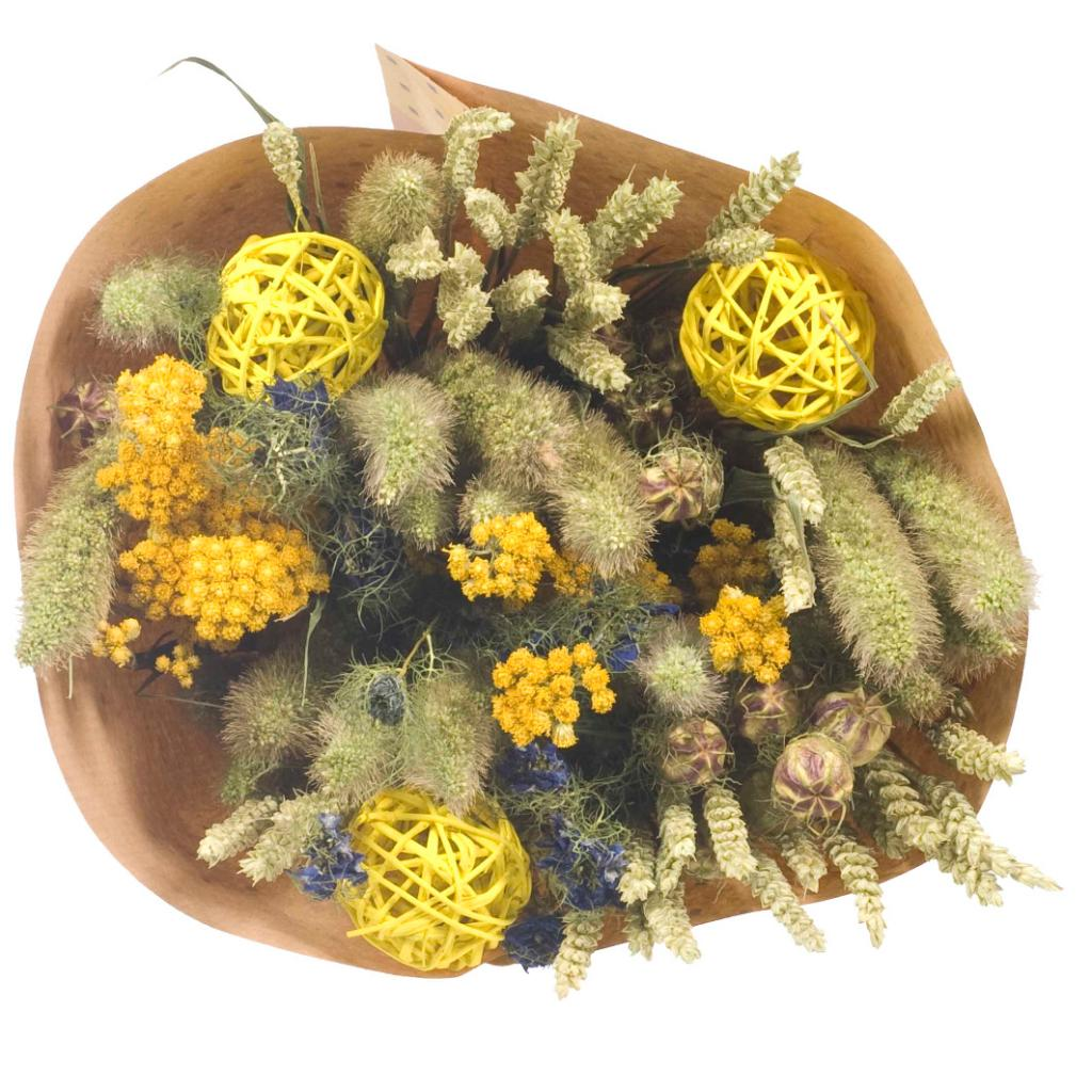 dried flower bouquets yellow