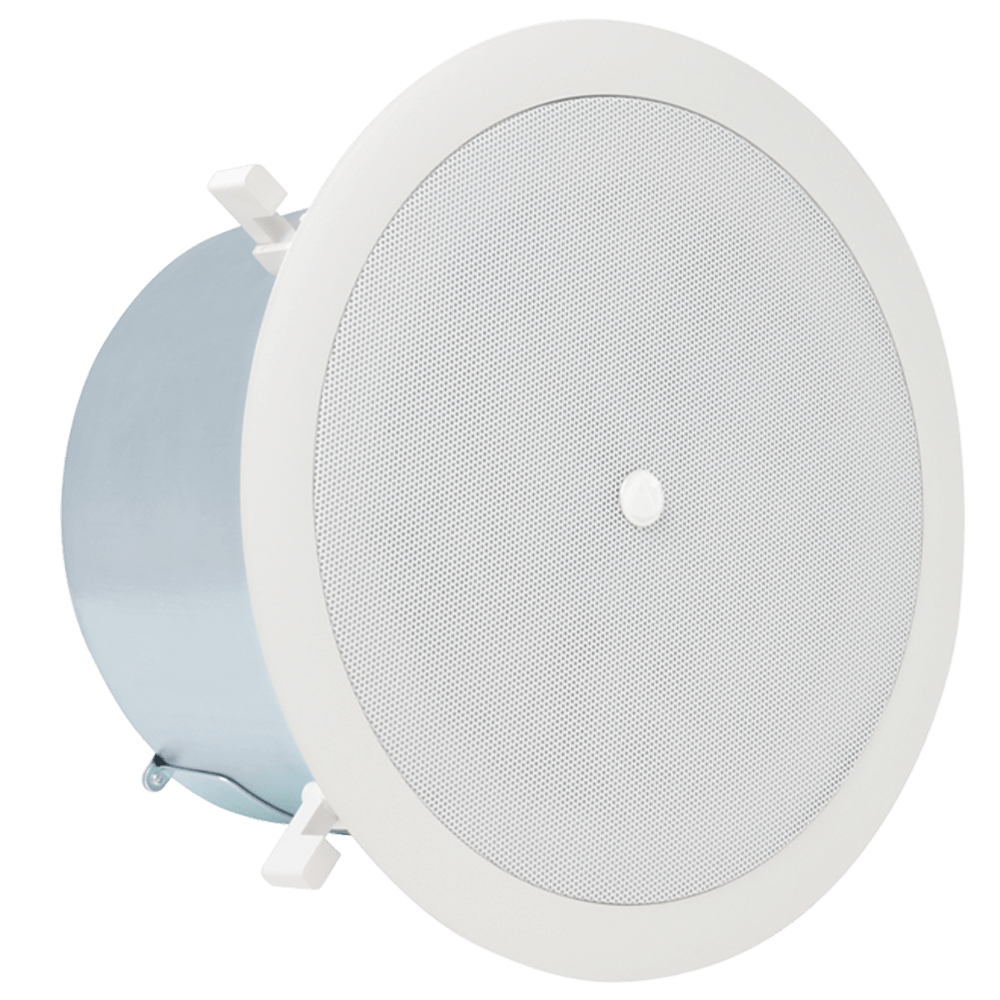 medium resolution of 6 coaxial in ceiling loudspeaker with 32 watt 70 100v transformer and ported enclosure atlasied