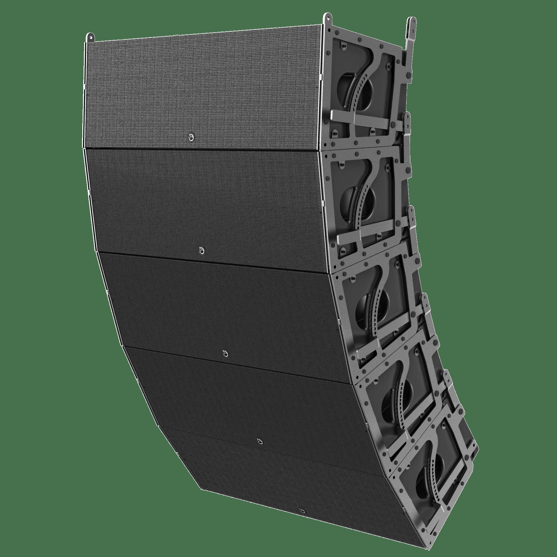 hight resolution of dual 12 3 way 3600 watt powered large format line array loudspeaker atlasied