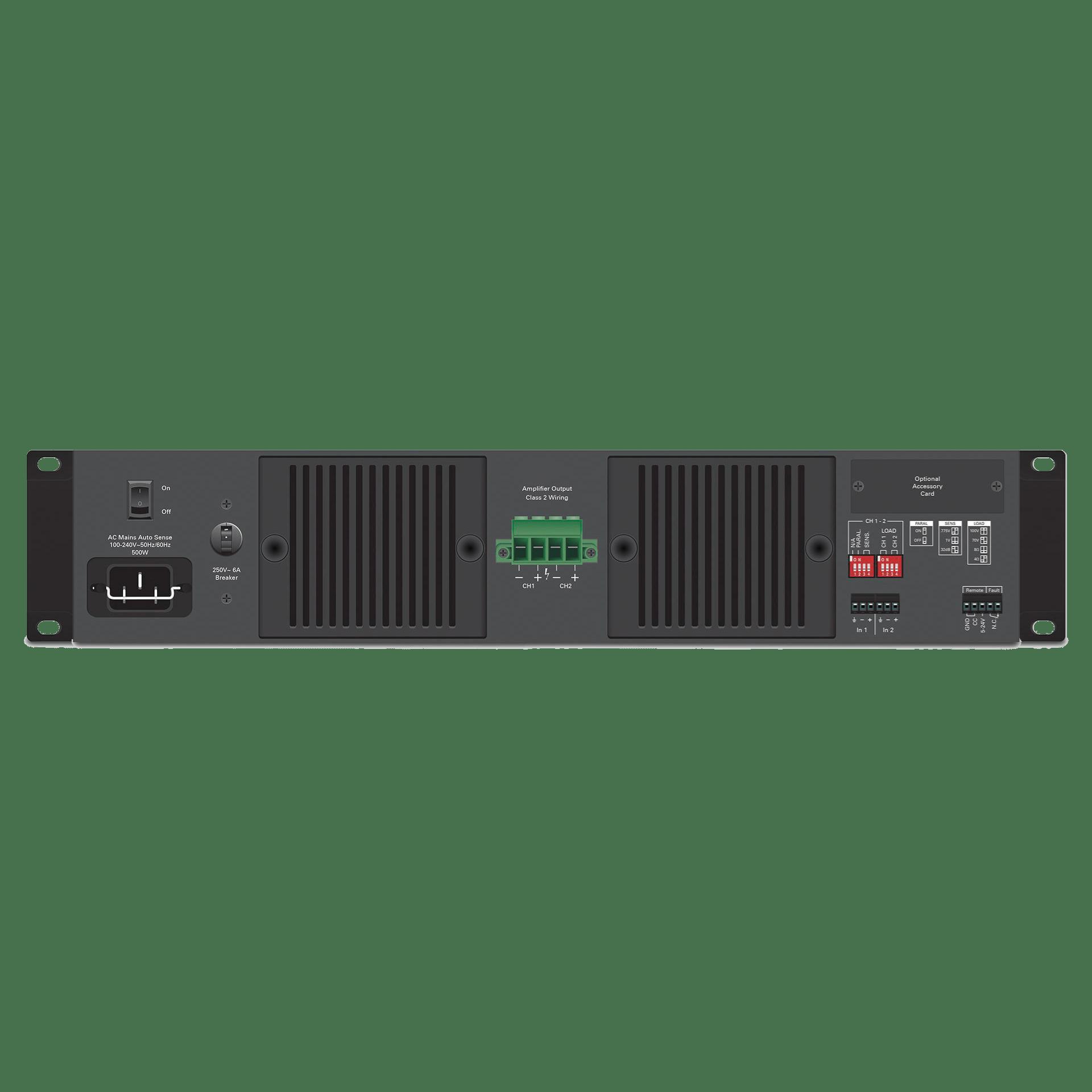 hight resolution of dual channel 600 watt commercial amplifier