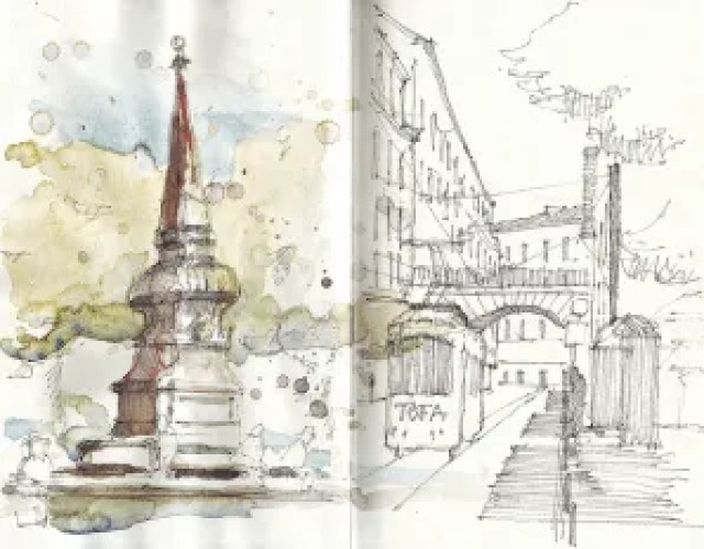 Lisbon as sketched by Alvaro Carnicero
